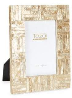 Tozai Home Two-Pack Crisscross Wooden Frames Set