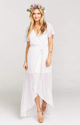 Show Me Your Mumu Sophia Wrap Dress ~ Light Lavender Chiffon