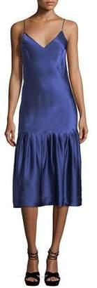 Maggie Marilyn Don't Underestimate Me Silk Satin Midi Slip Dress