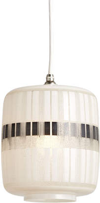 Rejuvenation Mid-Century Stenciled Glass 'Chinese Lantern' Pendant