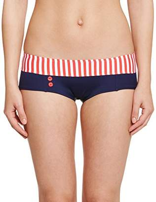 Daniel Hechter Lingerie Women's Striped Bikini Bottoms - Red