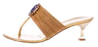 Vicini Chain-Link Thong Sandals