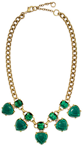 Gerard Yosca Emerald Hearts Necklace