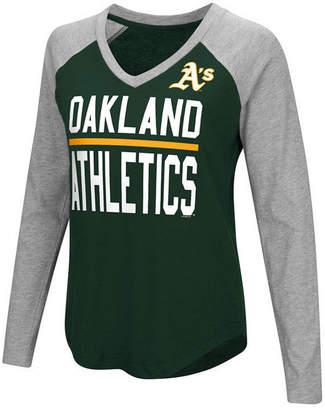 G-iii Sports Women's Oakland Athletics Power Hitter Raglan T-Shirt