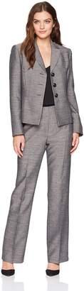 Le Suit LeSuit Women's Melange 3 Bttn Peak Lapel Pant Suit