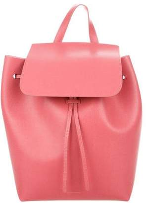 Mansur Gavriel Leather Drawstring Backpack