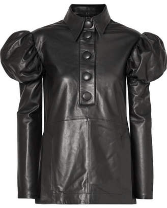 Ellery Breuer Leather Shirt - Black
