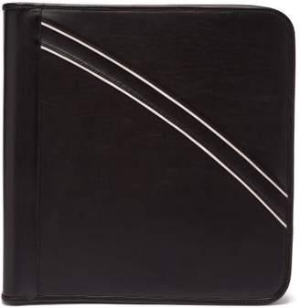 Ribeyron - Pipe Trim Leather Document Holder - Mens - Black