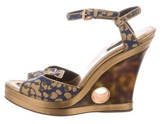 Louis Vuitton Platform Peep-Toe Wedges