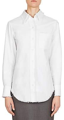 Thom Browne Women's Frayed Button-Down Blouse