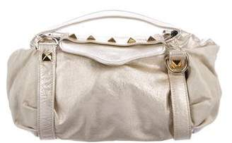 Rebecca Minkoff Studded Metallic Leather Satchel