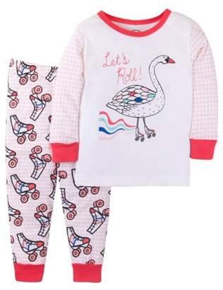 Lamaze Organic Cotton Long Sleeve T-Shirt & Pants, 2-piece Pajama Set (Baby Girls & Toddler Girls)