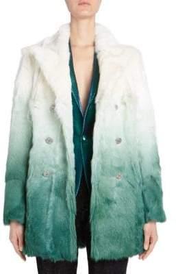 Each X Other Dip Dye Fur Coat