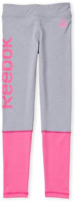 Reebok Girls 7-16) Contrast Cuff Logo Leggings