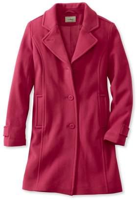 L.L. Bean L.L.Bean Women's Classic Lambswool Polo Coat, Three-Quarter