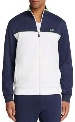 BOSS GREEN Skaz Color Block Zip Sweatshirt