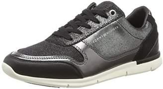 7643cc4d9 Tommy Hilfiger Women s Sparkle Light Sneaker Low-Top (Black 990)