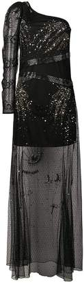 Patrizia Pepe one-shoulder embellished dress