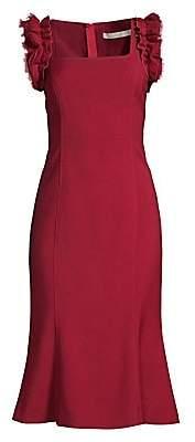 Jason Wu Collection Women's Ruffled Stretch Wool Crepe Dress - Size 0