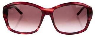 Judith Leiber Crystal-Trimmed Gradient Sunglasses
