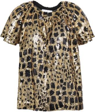 Antik Batik Baguy Metallic Leopard-print Tulle T-shirt