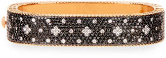 Roberto Coin Venetian Princess 18K Rose Gold & Black Diamond Bangle