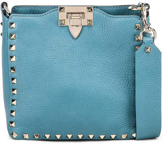 Valentino Rockstud Mini Hobo Bag in Atlantique | FWRD