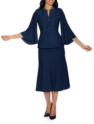 GIOVANNA SIGNATURE Giovanna Signature Women's Bell Sleeve 2-pc Skirt Suit