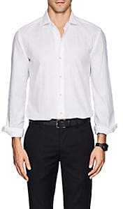 Barneys New York Men's Cotton Piqué Shirt - White