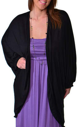 24/7 Comfort Apparel Oversized Dolman Sleeve Womens Cardigan-Plus