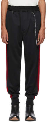 mastermind WORLD Black and Red Side Line Track Pants