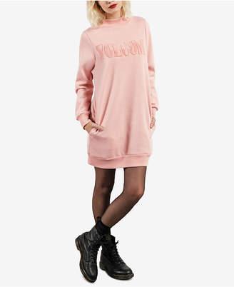 Volcom Juniors' Burn City Fleece Sweatshirt Dress