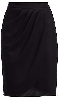 Max Mara Women's Tarso Draped Wool Skirt