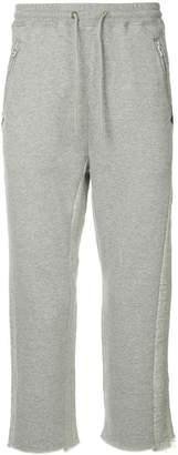 Facetasm drawstring cropped track pants