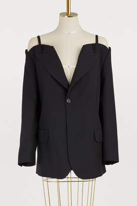 Maison Margiela Open shoulder wool jacket