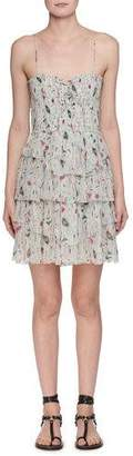 Etoile Isabel Marant Elma Sleeveless Printed Smocked Dress