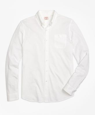 Long-Sleeve Button-Down Knit Shirt $79.50 thestylecure.com