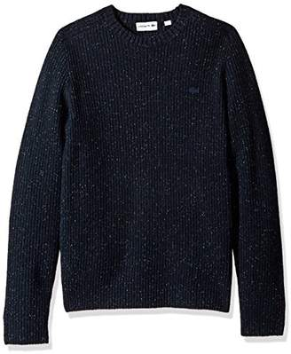 Lacoste Men's Crewneck Gaufre Wool Sweater Tone Croc
