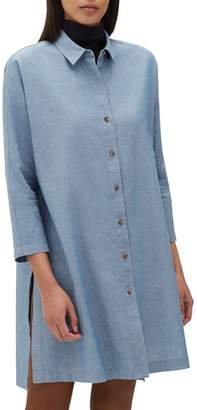 Lafayette 148 New York Kyrie Artisan Chambray Boyfriend Shirt