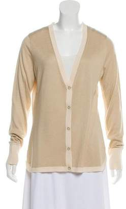 Magaschoni V-Neck Knit Cardigan