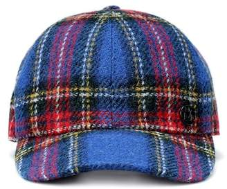 Maison Michel Tiger tartan wool cap