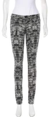 Joe's Jeans Abstract Print Mid-Rise Jeans