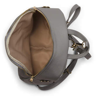 Made In Italy Leather Zip Backpack