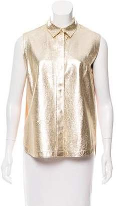 3.1 Phillip Lim Metallic Leather Top