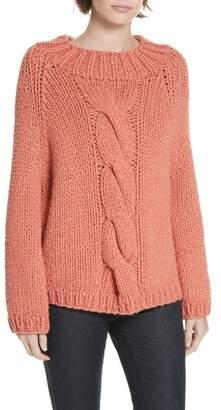 Brochu Walker Gia Hand Knit Wool Cashmere Blend Sweater