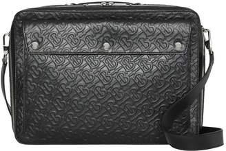 Triple Stud Monogram Leather Briefcase