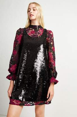 French Connenction Cynthia Lace And Sequin Dress 6924358af