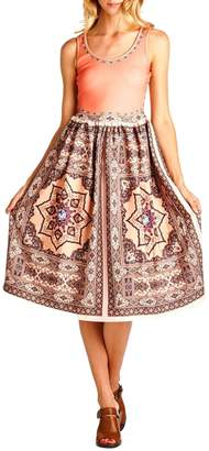 Racine Persimmon Print-Tank Dress