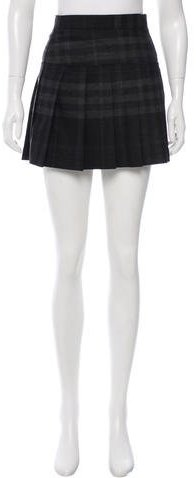 Burberry Brit Wool Plaid Skirt