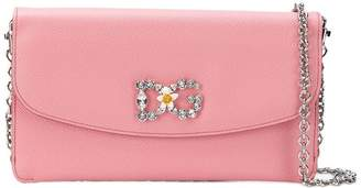 Dolce & Gabbana crystal embellished chain wallet